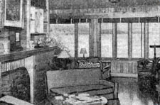 interior view of the Fort Johnson guest house